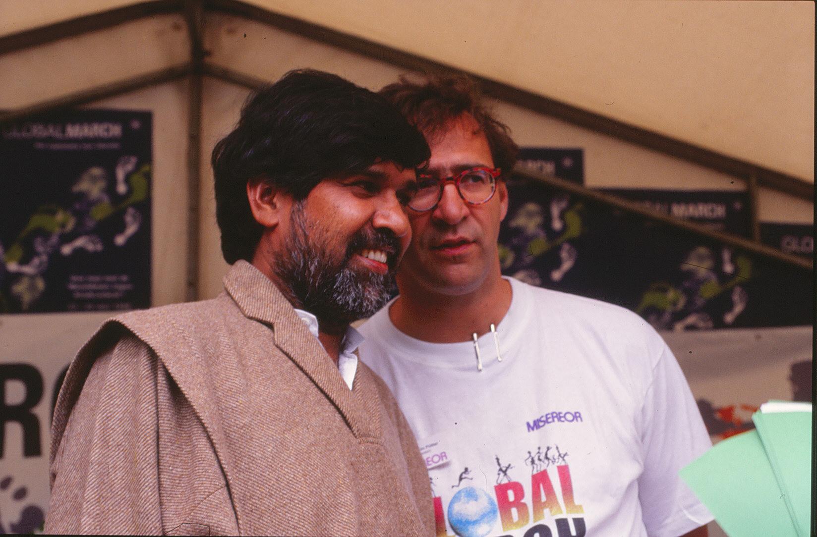 Kailash Satyarthi und Benjamin Pütter (Foto: Empt/MISEREOR)